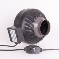 100mm Centrifugal Black Fan