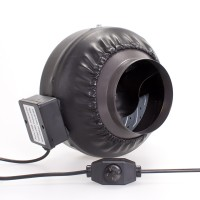 150mm Centrifugal Black Fan | Fans, Silencers | All Fans | Exhaust Fans | 150mm Fans