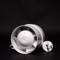 100mm Inline Fan White Plastic