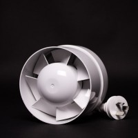 125mm Inline Fan White Plastic Sino | Fans, Silencers | All Fans | Intake Fans | 100mm Fans