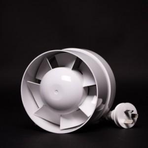 125mm Inline Fan White Plastic  | Fans, Silencers | All Fans | Intake Fans | 100mm Fans