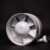 150mm Inline Fan White Plastic Sino