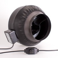 200mm Centrifugal Black Fan  | Fans, Silencers | All Fans | Exhaust Fans | 200mm Fans