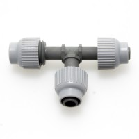Tee 13mm with Screw Caps | New Products | Autopot Systems | Plumbing | 13mm Plumbing Fittings