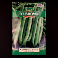 Climbing Bean - Shiny Fardenlosa | Seeds | D.T. Brown Vegetable Seeds | Watkins Vegetable Seeds