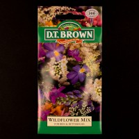 Wildflower Mix - For Bees & Butterflies | Seeds | D.T. Brown Flower Seeds