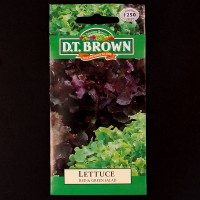 Lettuce - Red & Green Salad | Seeds | D.T. Brown Vegetable Seeds | Watkins Vegetable Seeds