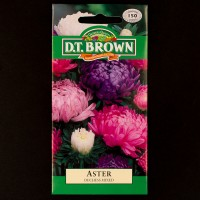 Aster - Duchess Mixed | Seeds | D.T. Brown Flower Seeds