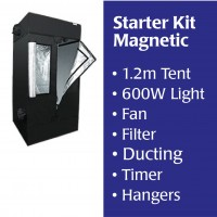 1.2m Starter Tent, MAGNETIC BALLAST, Light, Filter, Fan,  Accessories Kitset