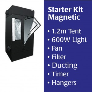 1.2m Starter Tent, MAGNETIC BALLAST, Light, Filter, Fan,  Accessories Kitset | Lighting Kits | Home | Specials | New Products | Grow Tents | HOMEbox HomeLab Tents | 600 Watt