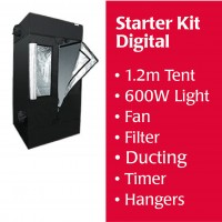 1.2m Starter Kit DIGITAL BALLAST, Tent, Fan, Filter and Accessories Kitset