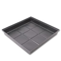Flood & Drain Tray 1m x 1m x 150mm | Trays Saucers | Hydroponic Gear | Pots, Trays & Planter Bags  | Large Trays