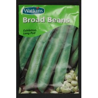 Broad Beans Exhibition Long Pod | Seeds | Watkins Vegetable Seeds